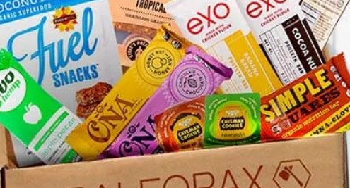 The Paleo Pax box offers a monthly supply of paleo-friendly snacks.
