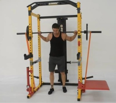 The Powertec Workbench Power Rack is compatible with about 20 accessories.