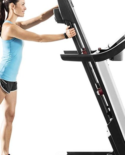 The ProForm 505 CST treadmill is easy to fold and stow.