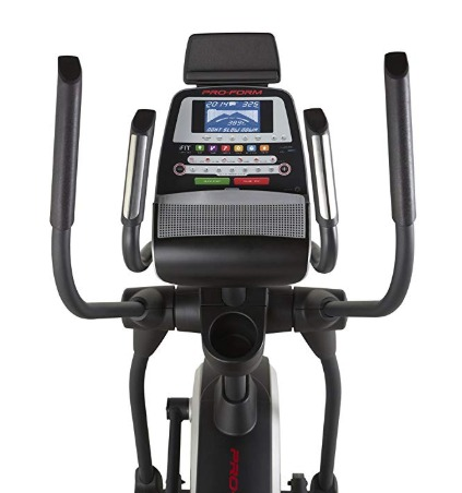 The ProForm Endurance 520 E elliptical features an integrated computer monitor.