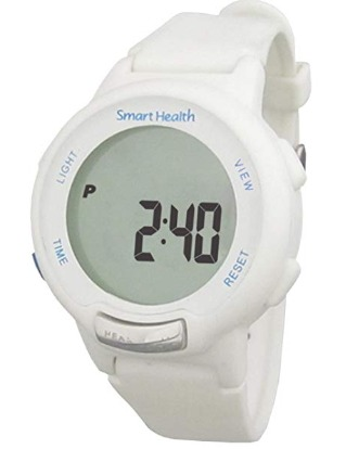 The Smart Health Walking Fit tracker watch has a minimal user interface.