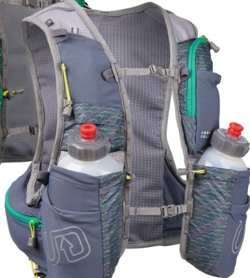 The Ultimate Direction Jurek FKT Vest holds up to a day of supplies.