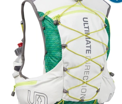 The Ultimate Direction Jurek FKT vest weighs less than a pound when loaded.