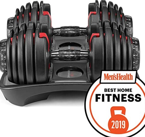Bowflex SelectTech 552 dumbbells adjust in small steps.