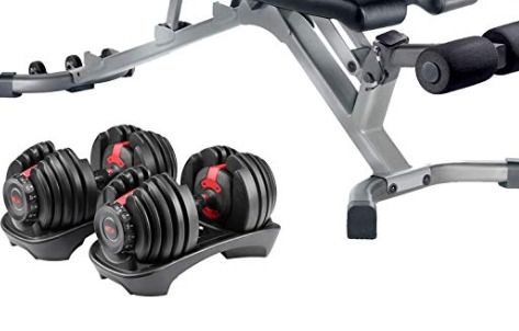 Bowflex SelectTech 552 dumbbells come with a storage base.