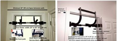 The Gym1 Power Fitness Package fits most doorways easily.