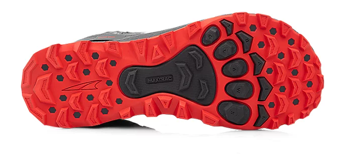 The Altra Lone Peak 4 outsole mimics the human foot
