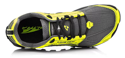 The Altra Lone Peak 4 uses a lace saddle for a firm fit.