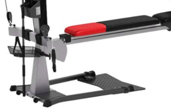 The Bowflex Blaze lets you do squats with a tower and platform.