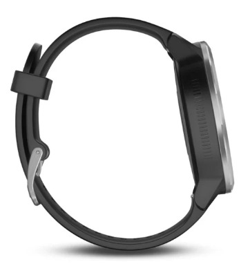 The Garmin Vivoactive 3 silicone band is soft and non chafing.