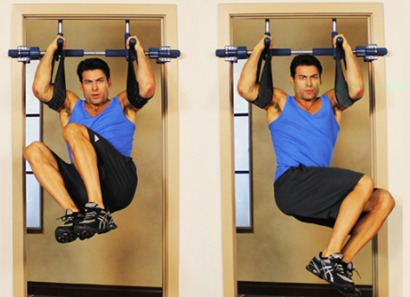 The Gym1 Power Fitness Package creates new possibilities for hanging crunches.