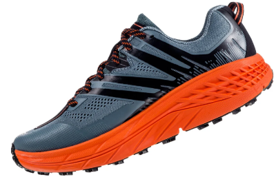 The Hoka Speedgoat 3 trail running shoe lace saddle keeps laces tight.