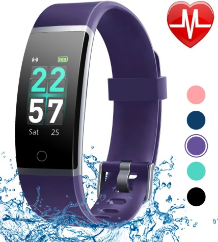 The Letscom Fitness Tracker watch features smart phone alerts.