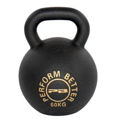 The Perform Better First Place Kettlebell comes in sizes up to 132 pounds.