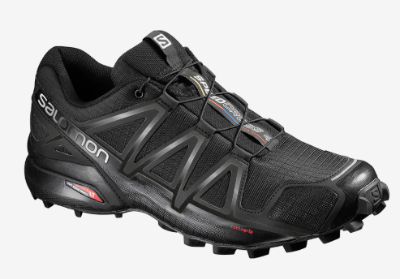 The Salomon Speedcross 4 has a reinforced speed lace cradle.