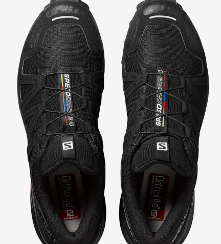 The Salomon Speedcross laces quickly with a single pull.