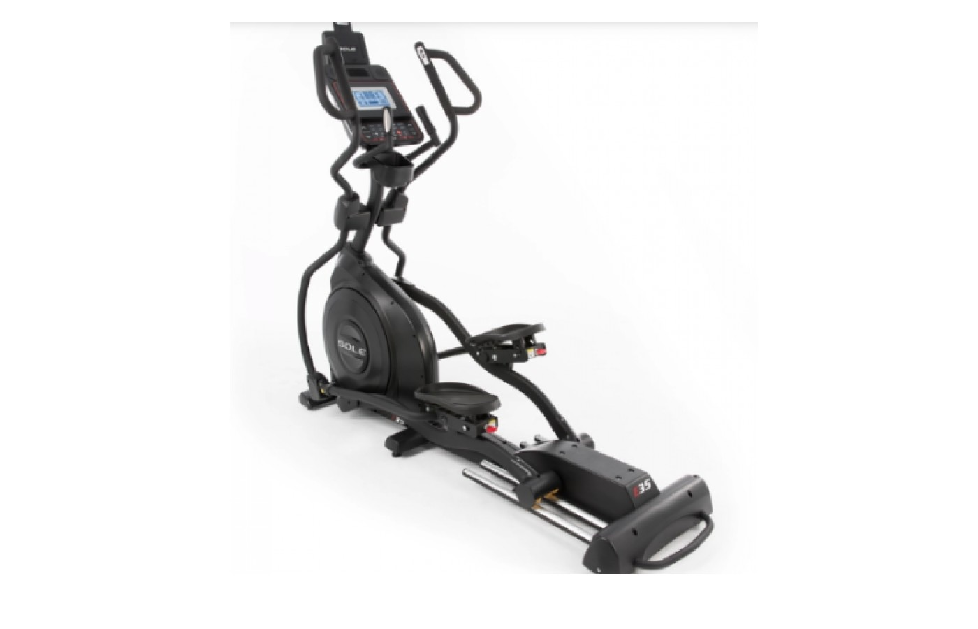 The Sole Fitness E35 Elliptical Trainer has a full featured LED console.