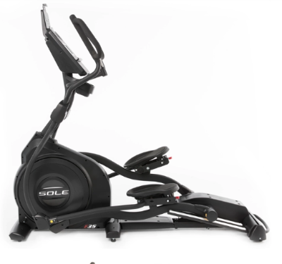 The Sole Fitness E35 Elliptical Trainer has speakers for music playback.