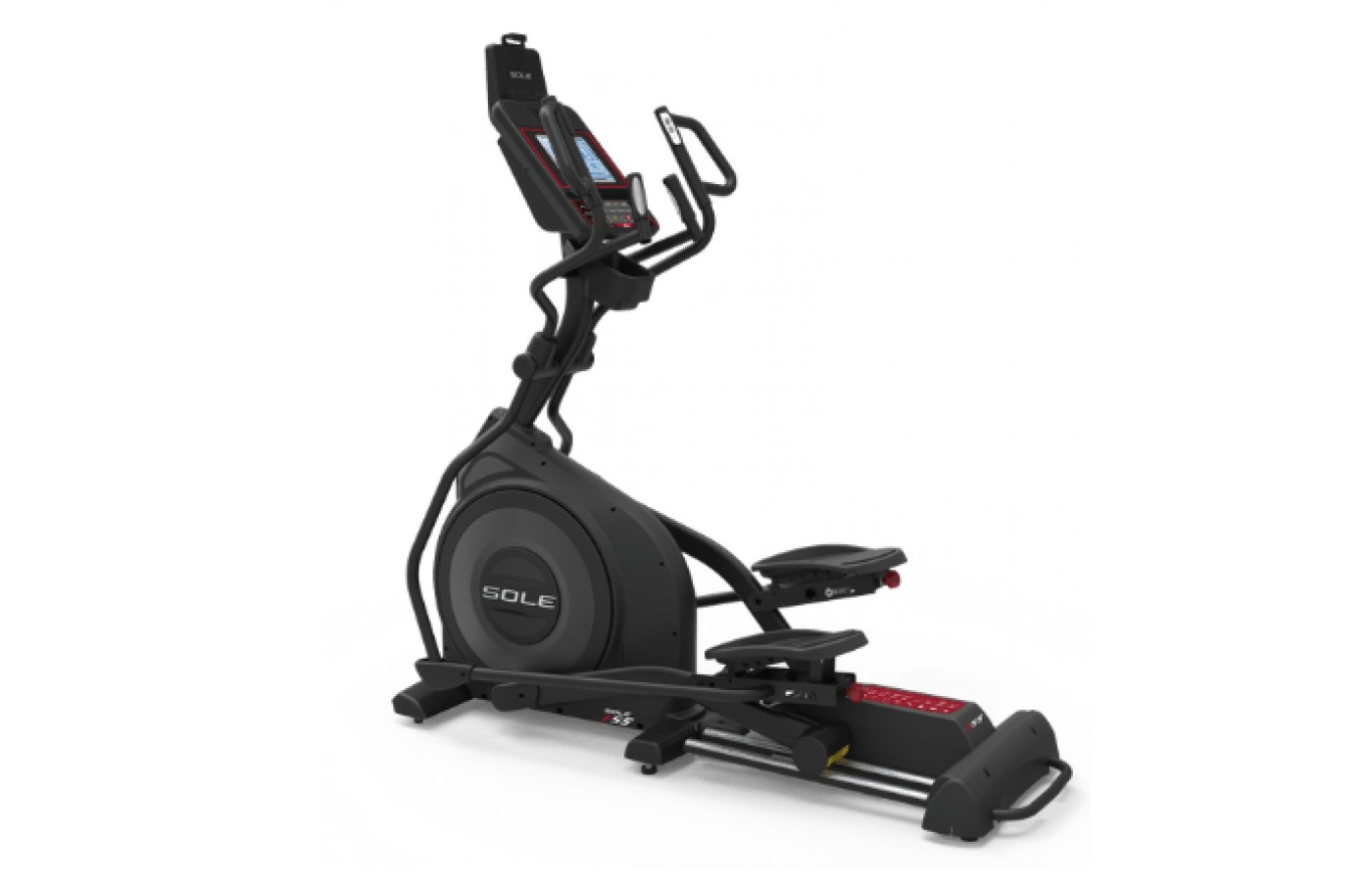 The Sole Fitness E35 elliptical trainer is compact.
