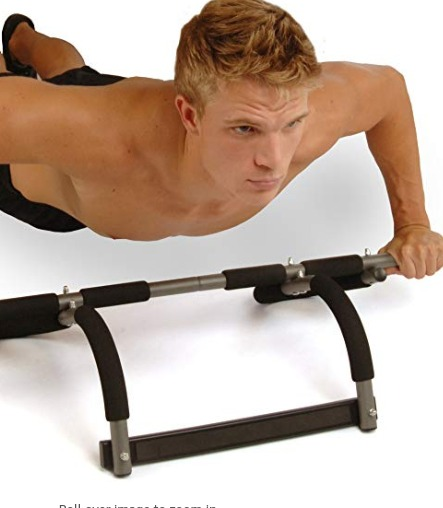 The Stamina Pro Doorway Trainer can be uninstalled and used on the floor.