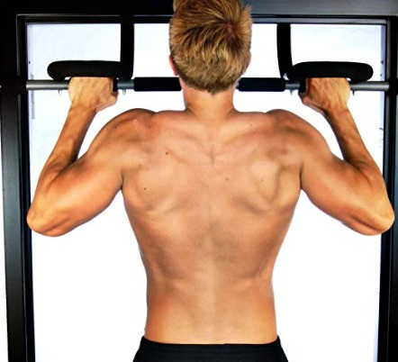 The Stamina Pro Doorway Trainer lets you do pullups with several grips.