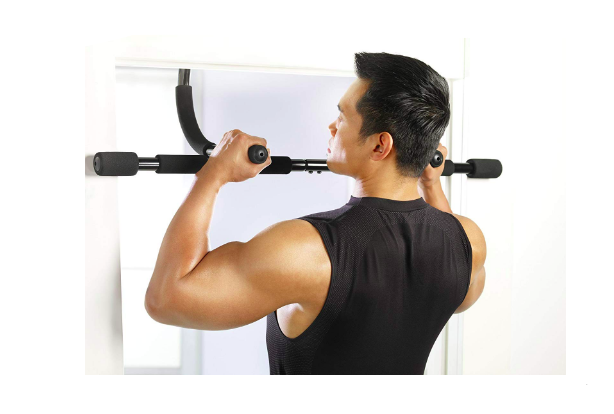 Gold's Gym Pull Up Bar In Use