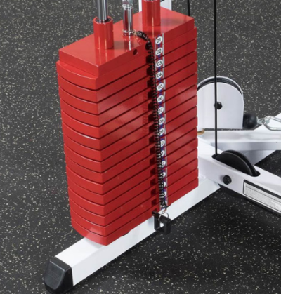 The Body Solid EXM-2500S features optional premium weight plates.