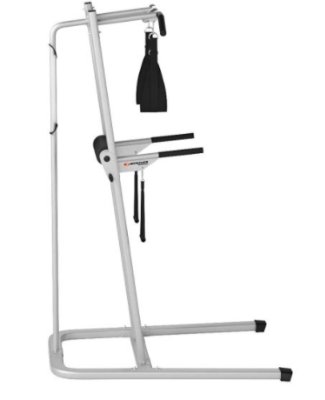 The Bowflex Body Tower has a wide base with rubberized feet.