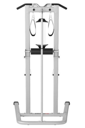 The Bowflex Body Tower offers several grip widths for pull ups.
