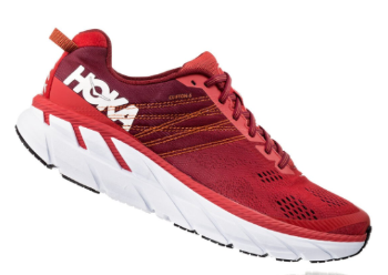 The Hoka Clifton 6 has a breathable mesh upper.