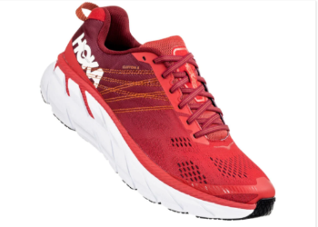 The Hoka Clifton 6 is a maximalist support shoe.