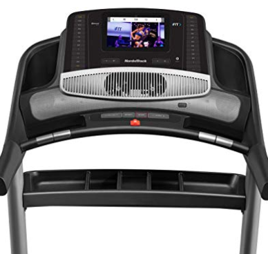 The NordicTrack iFit 1750 has a 10 inch color monitor.