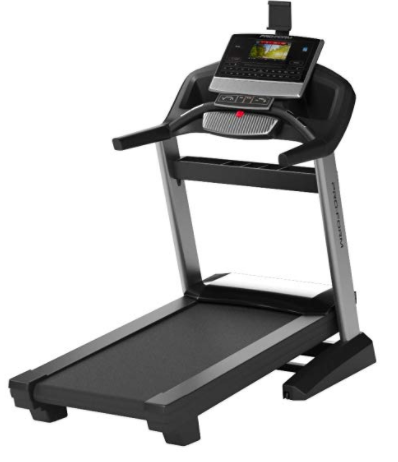 The Proform Pro 2000 treadmill features an adjustable soft grip tablet holder.