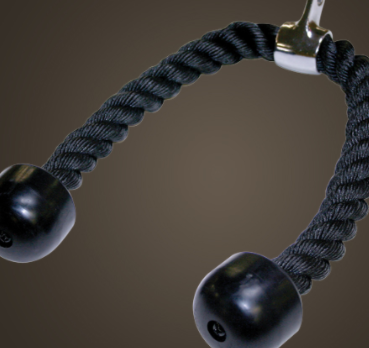 The triceps rope is a paid option for the Body Solid EXM 2500S.