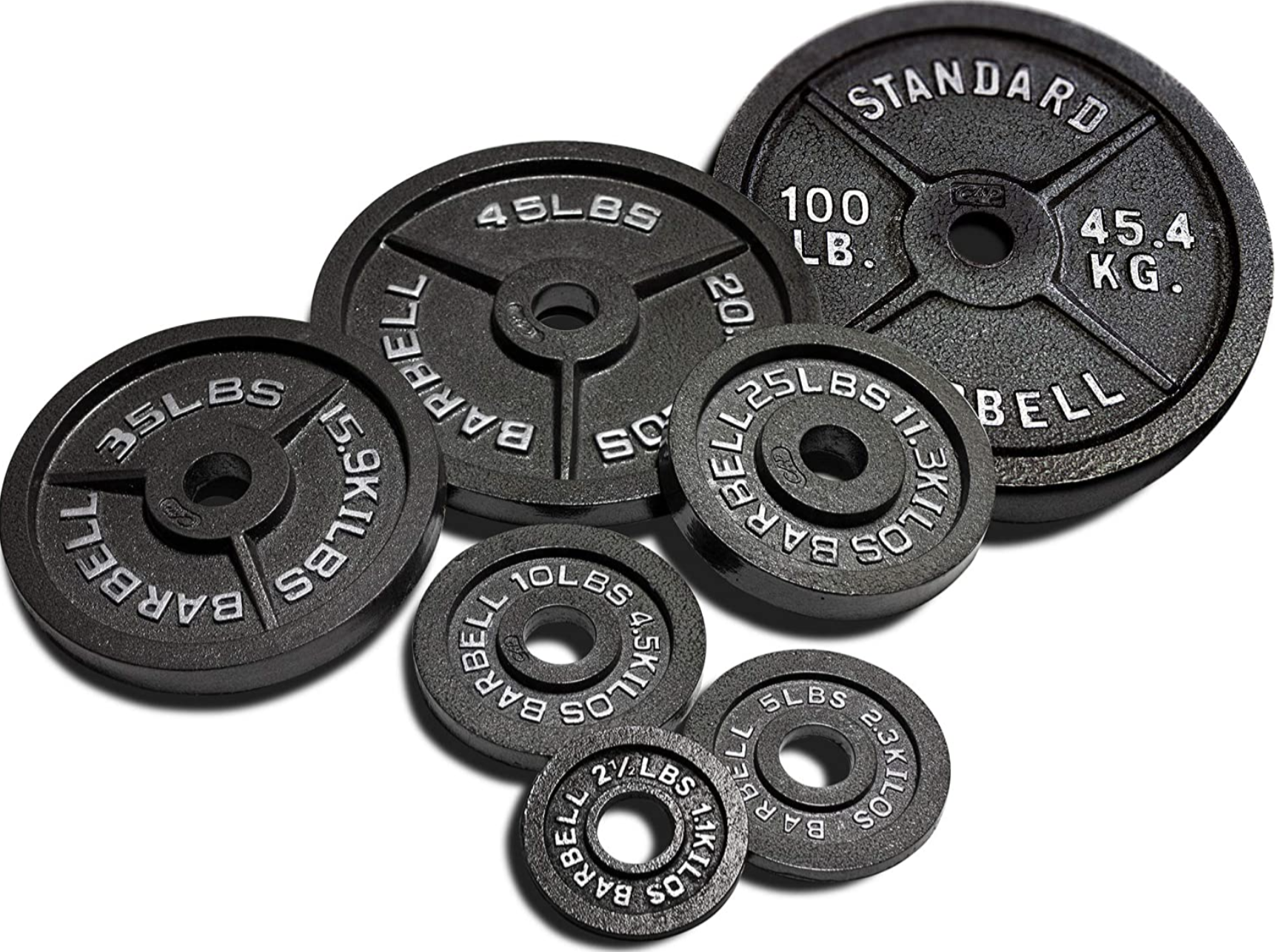 Cap Barbell 300-lb Cast Iron Olympic Weight Set