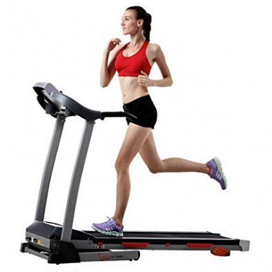 image of a woman running on the cardio machine