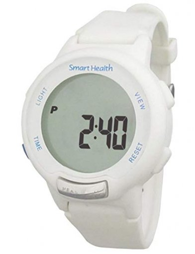 The Smart Health Walking Fit tracker watch comes in black and white.
