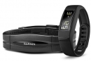 image of garmin vivofit 2 chest strap heart rate device and wrist fitness monitor