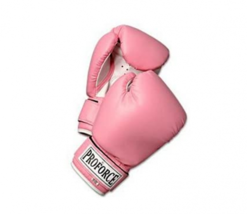 Pro Force Leatherette Boxing Gloves with White Palm
