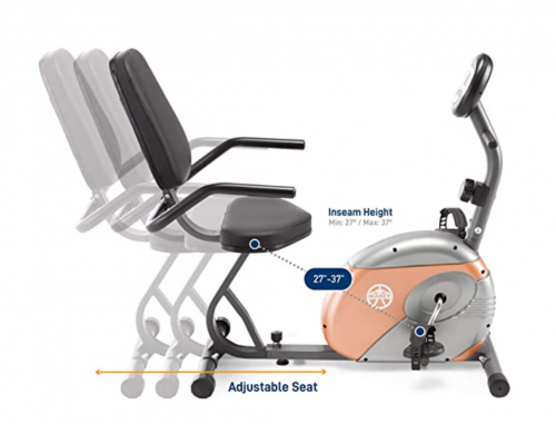 Marcy Recumbent Exercise Bike with Resistance ME-709 Detail