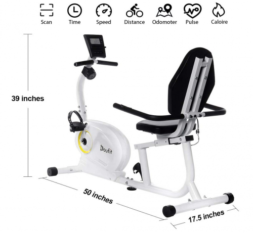 Doufit Recumbent Exercise Bike Stationary for Seniors and Adults Specs