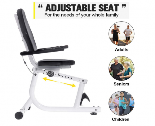 Doufit Recumbent Exercise Bike Stationary for Seniors and Adults 2