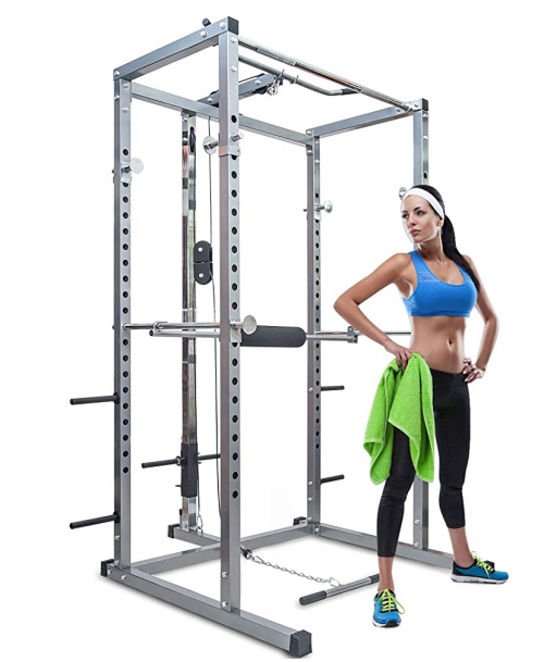 Merax Athletics Fitness Power Rack Olympic Squat Cage Home Gym