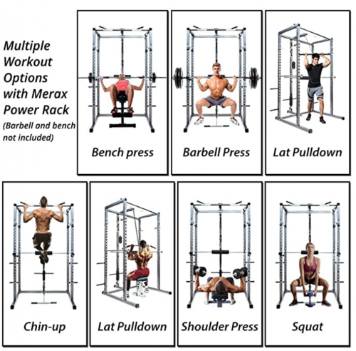 Merax Athletics Fitness Power Rack Olympic Squat Cage Home Gym 2