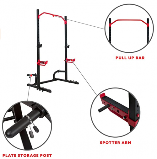 Sunny Health & Fitness Power Zone Squat Stand Rack Power Cage 2