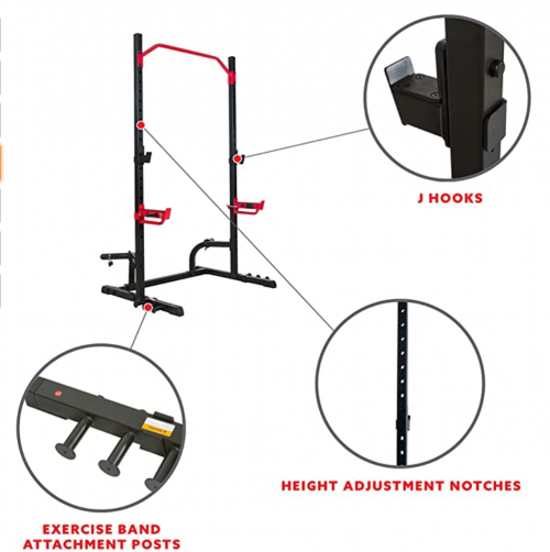 Sunny Health & Fitness Power Zone Squat Stand Rack Power Cage 3