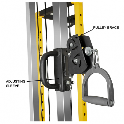 HulkFit Cable Crossover Attachment Multi-Function Adjustable Power Cage detail