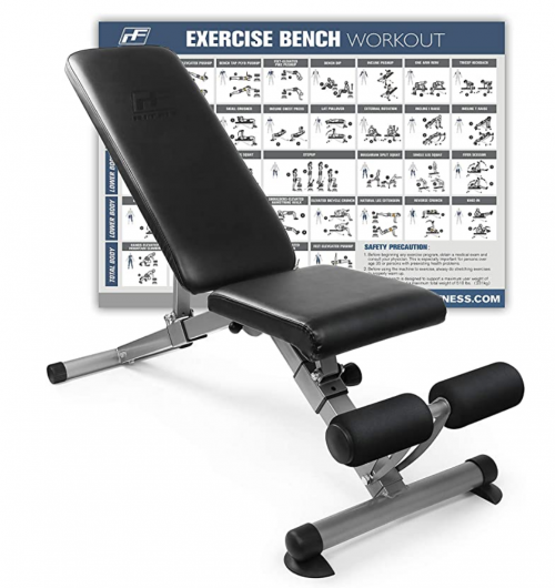 RitFit Adjustable / Foldable Utility Weight Bench