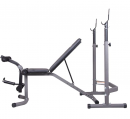 Body Champ Olympic Weight Bench with Leg Extension Curl Lift Developer Attachment