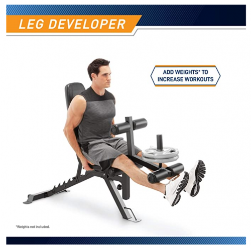 Marcy Adjustable 6 Position Utility Bench with Leg Developer and High Density Foam Padding  2